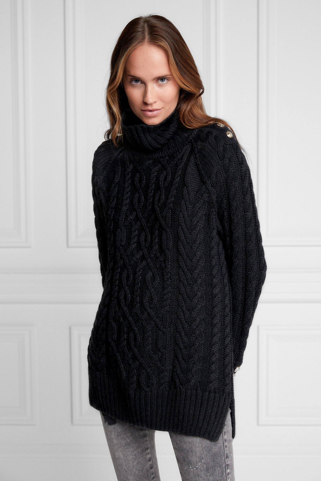Greenwich Cable Knit (Black)