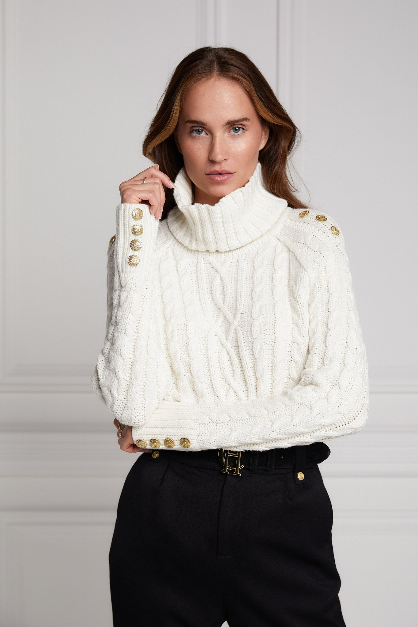 Portland Chunky Cable Jumper (Oyster)