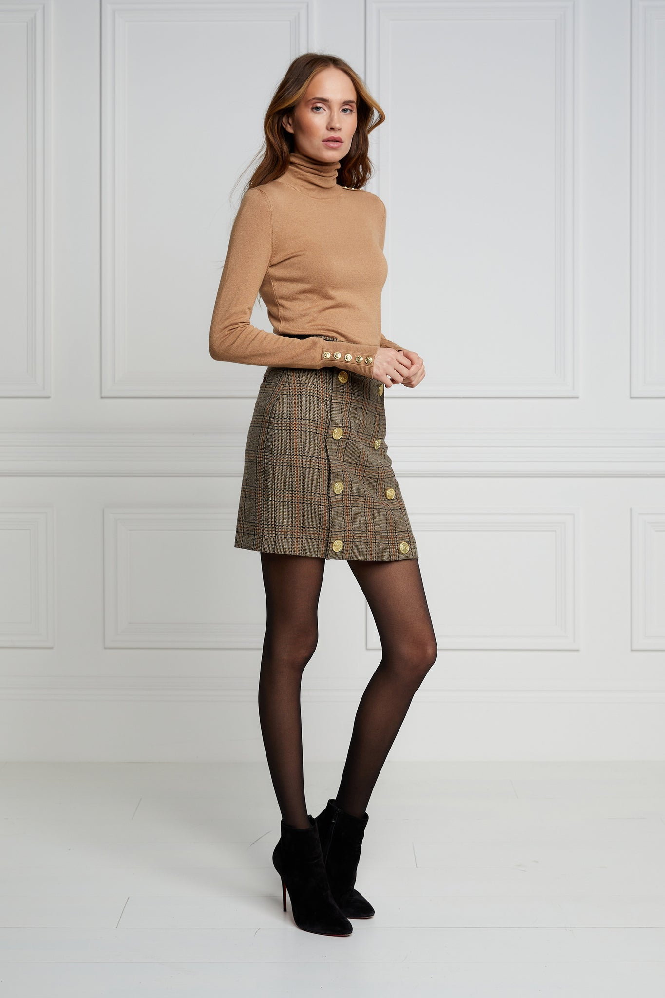 Knightsbridge Skirt (Bourbon Tweed)