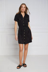 Military Shirt Dress (Black)