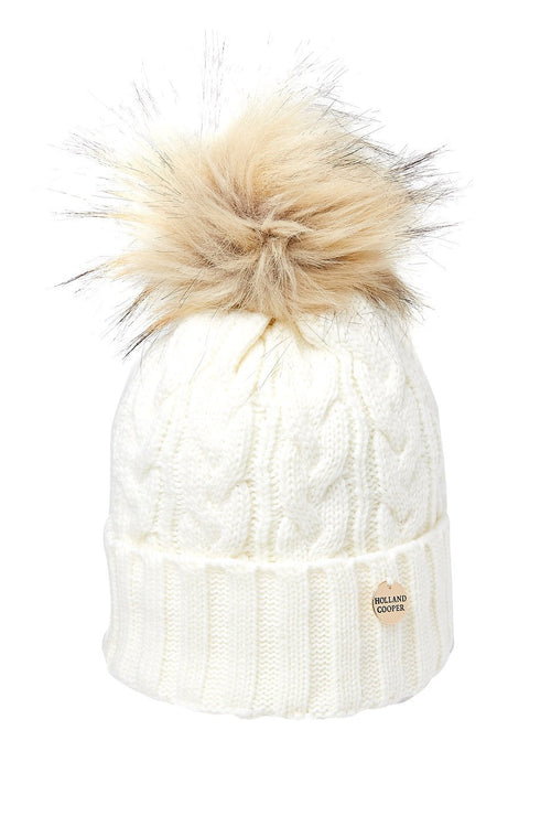 bd95bdac9c0 ... easy paintpot baby hat free knitting pattern cable knit fur bobble hat  cream