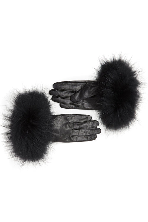 Leather Gloves (Black/Black)