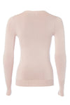 Buttoned Knit Crew Neck (Antique Rose)