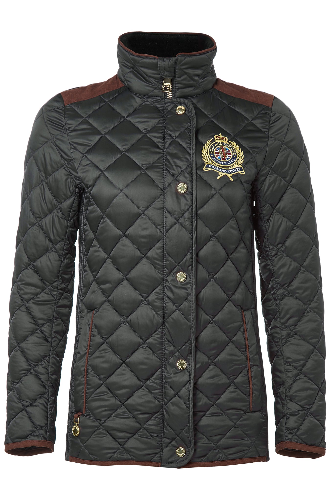 Diamond Quilt Jacket (Khaki)