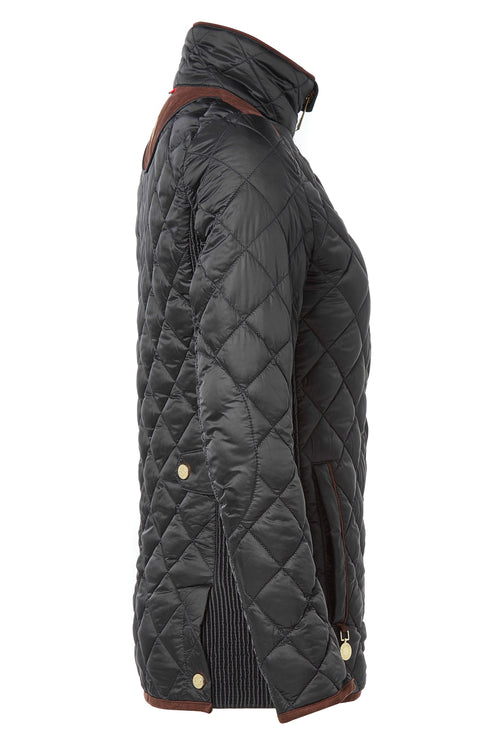 Equi Diamond Quilt Jacket (Black)