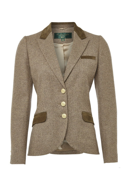 Cornbury Jacket (Stone Herringbone)