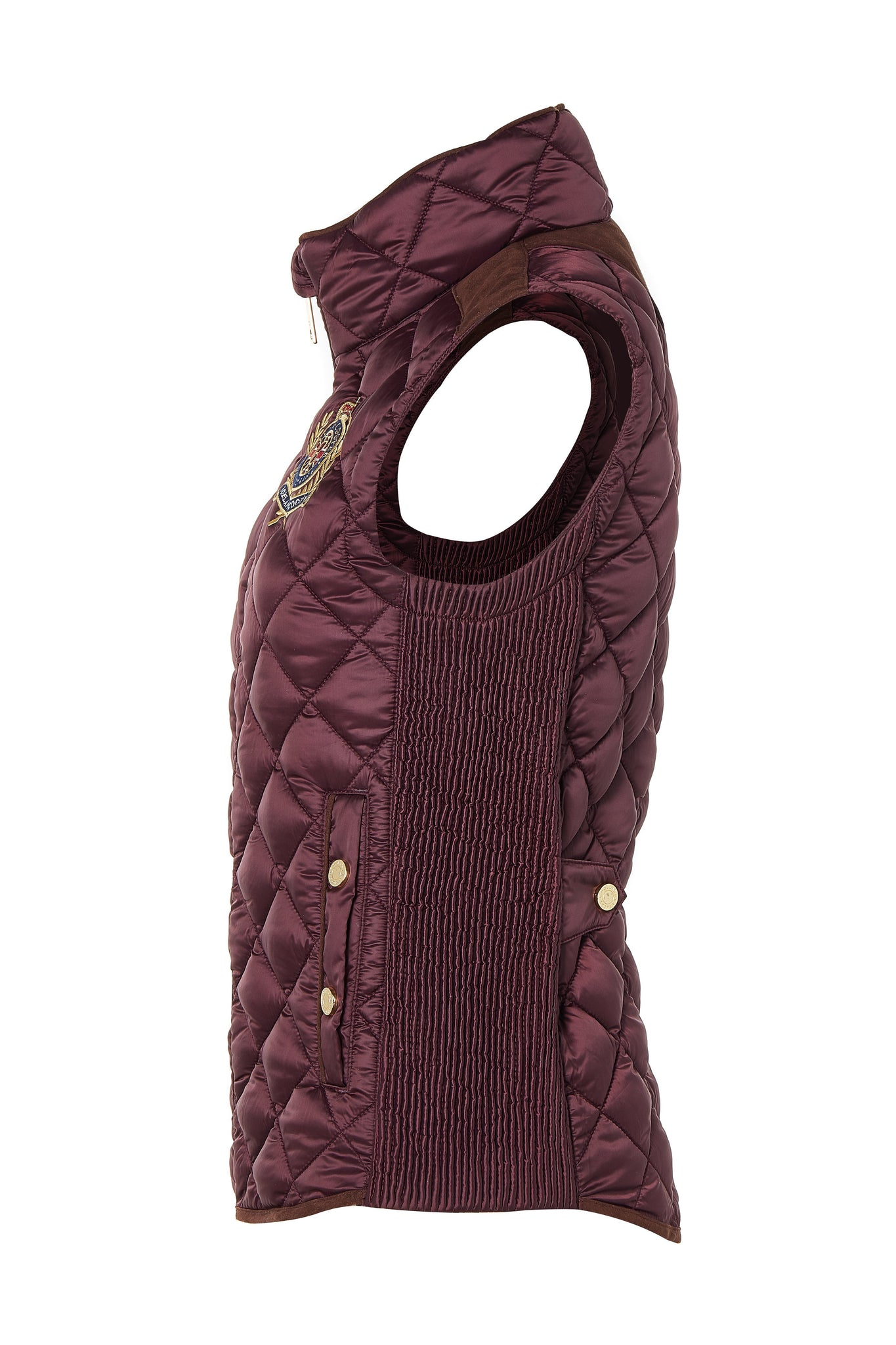 Diamond Quilt Gilet (Mulberry)
