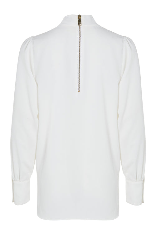 High Neck Shirt (White)