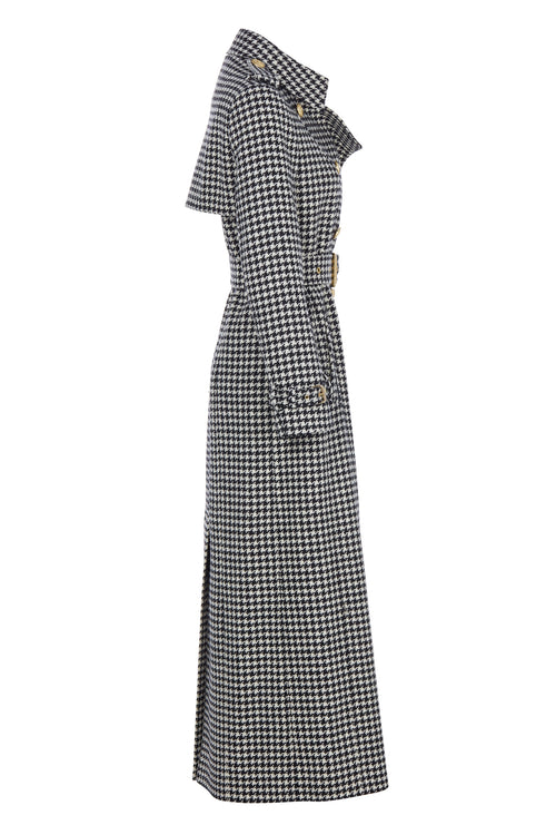 Full Length Marlborough Trench Coat (Houndstooth)