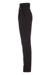 High Waisted Peg Trouser (Black Barathea)
