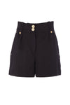 Luxe Tailored Short (Black Barathea)