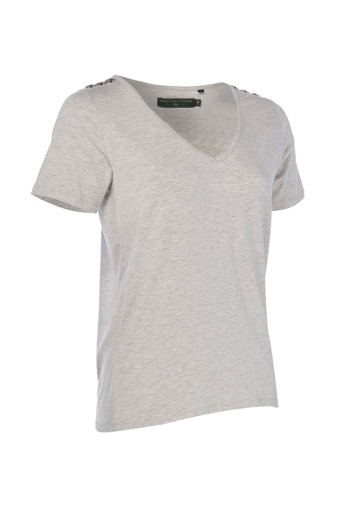 Relax Fit Vee Neck Tee (Ice Marl)
