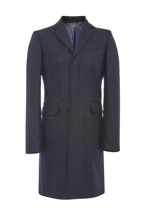 Finsbury Over Coat (Navy Loxley)
