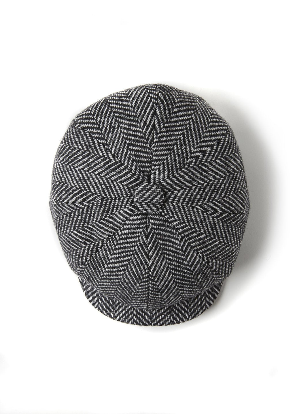 Baker Boy Cap (Wide Tooth Black Herringbone)