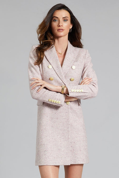 The Knightsbridge Coat Dress (Anniversary Pink)