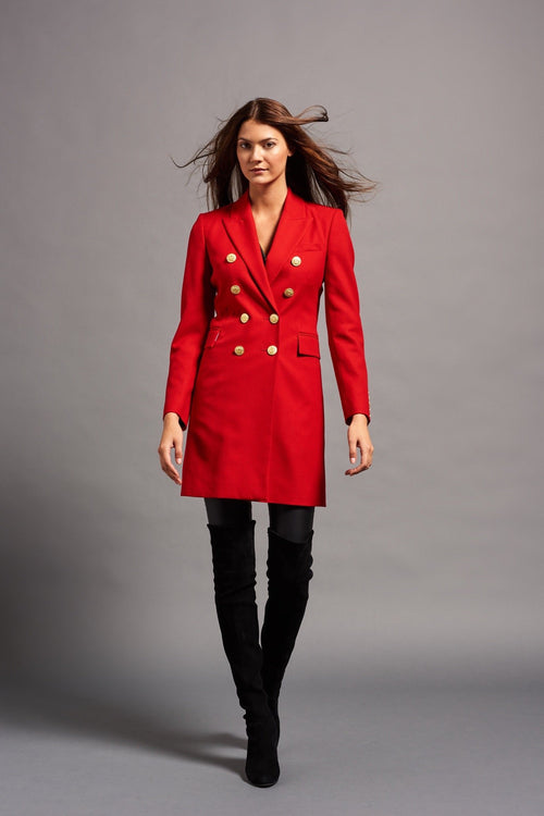 Knightsbridge Coat (Red Barathea)