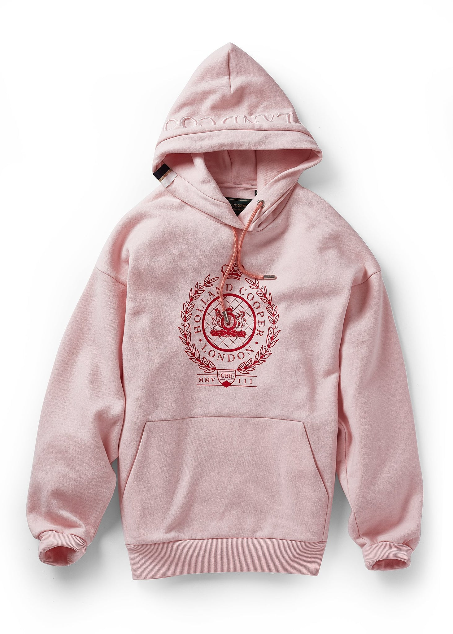 London Crest One Size Hoodie (Blush Marl)