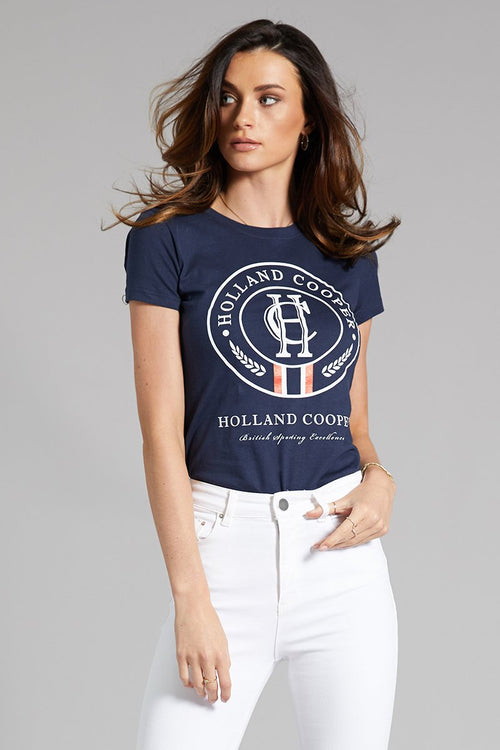 Limited Edition HC White Crest Tee (Navy)