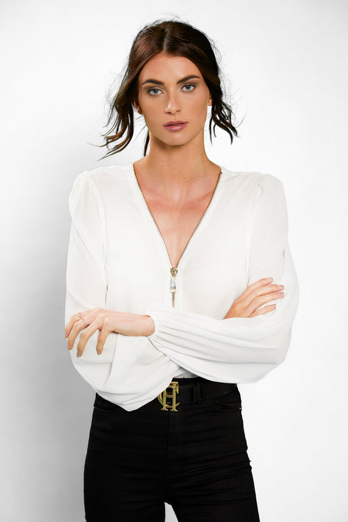 Zip Shirt (Cream)