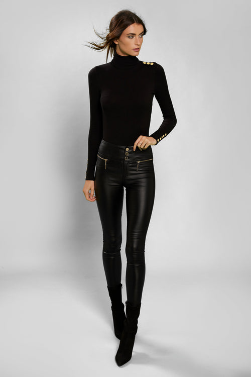 Skinny Leather Trousers (Black)