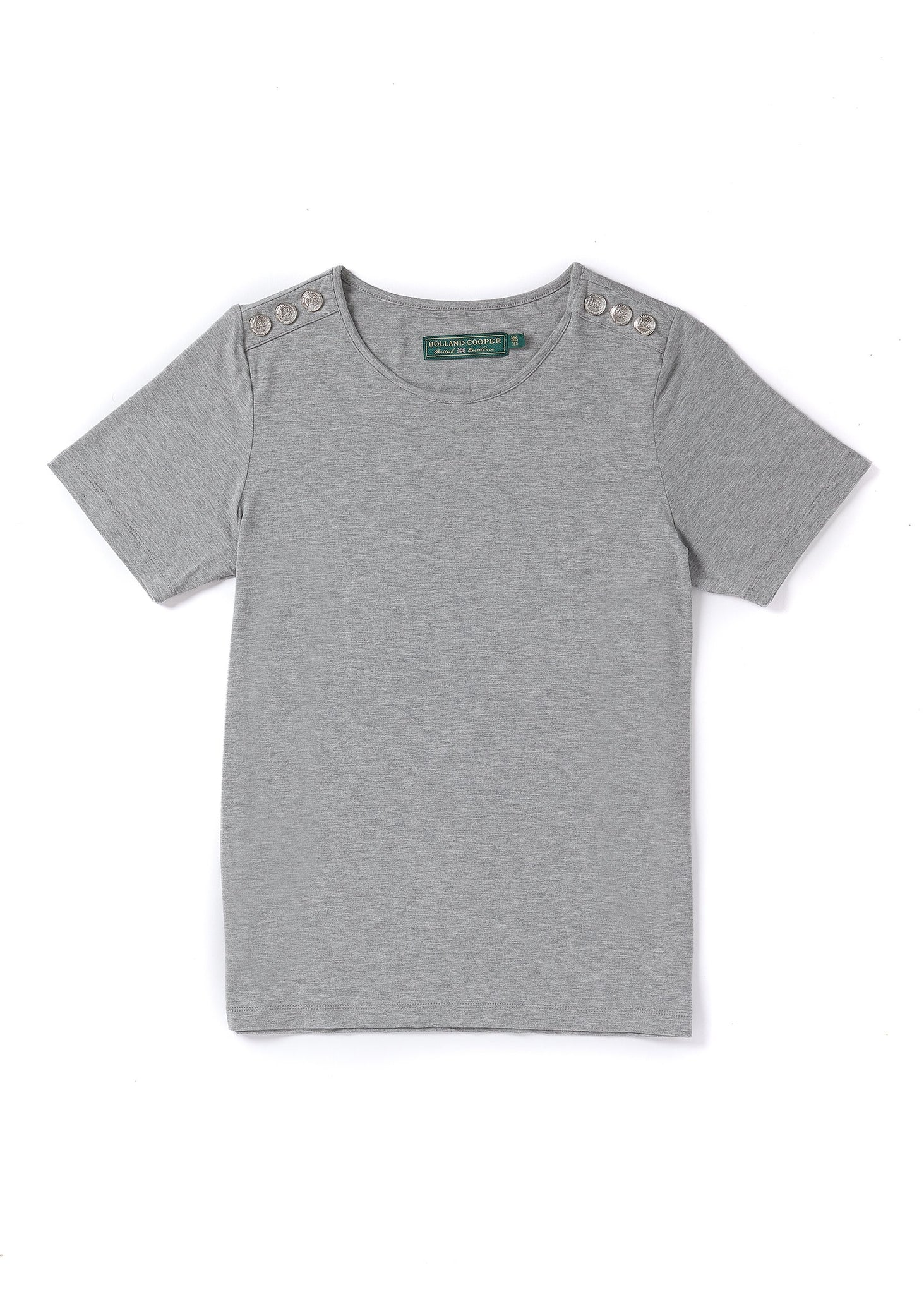 Relax Fit Crew Neck Tee (Grey Marl)