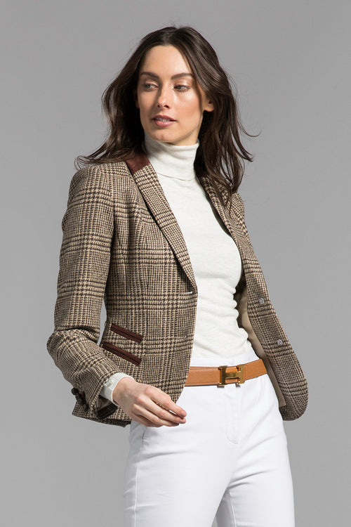 Sporting Jacket (Brown Prince of Wales Check)