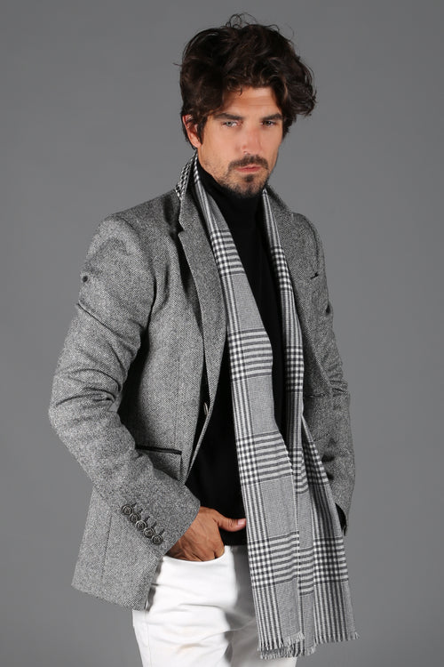 St James Jacket (BLACK AND WHITE HERRINGBONE)