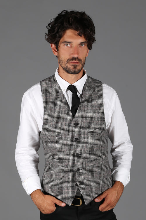 St James Waistcoat (Prince of Wales Check/Black)