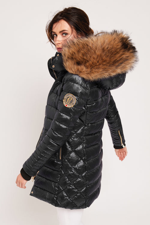 e34a30291f987 St Moritz Down Quilted Parka (Black) – Holland Cooper