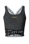 Studio Cross Over Crop (Mid Grey Marl)
