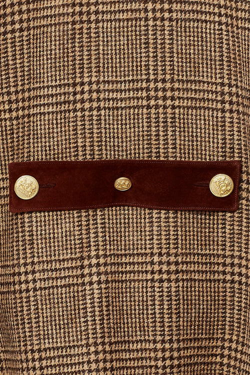 The Classic Cape (Brown Prince of Wales Check)