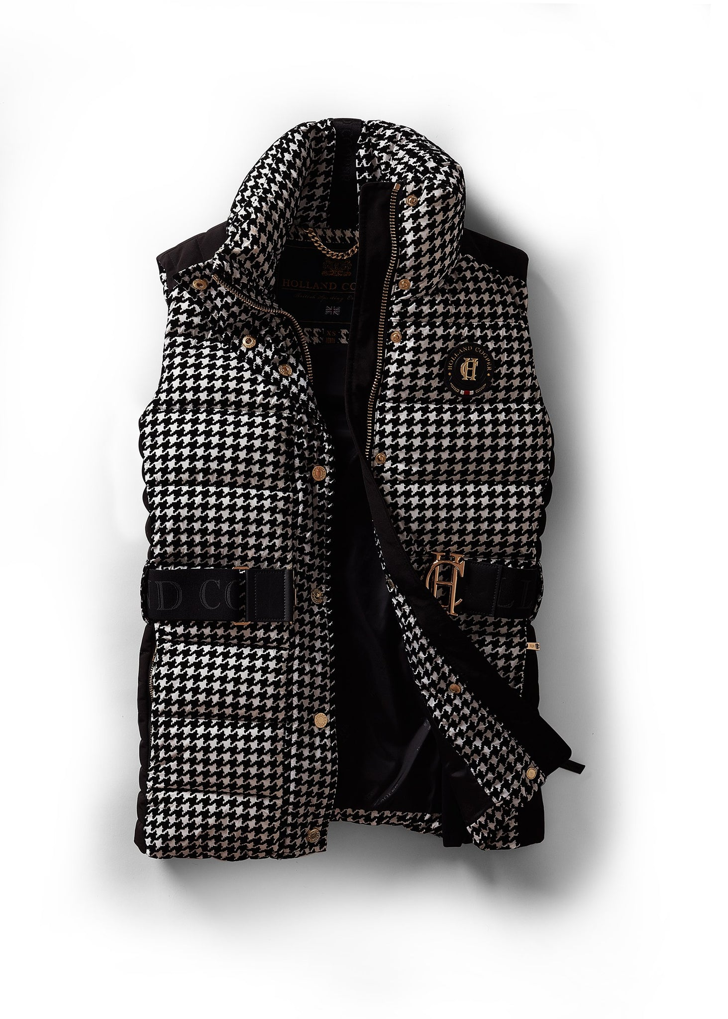 Valais Quilted Gilet (Houndstooth)