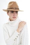Trilby Hat with Feather Band (Camel)