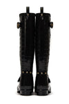 Sherpa Lined Regency Wellington (Black Croc)