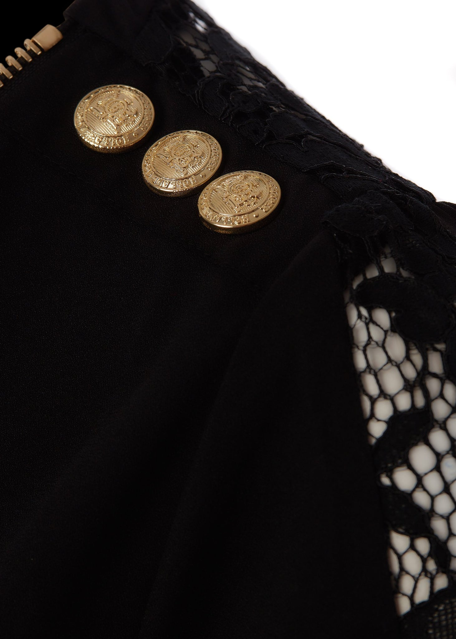 Lace Zip Shirt (Black)