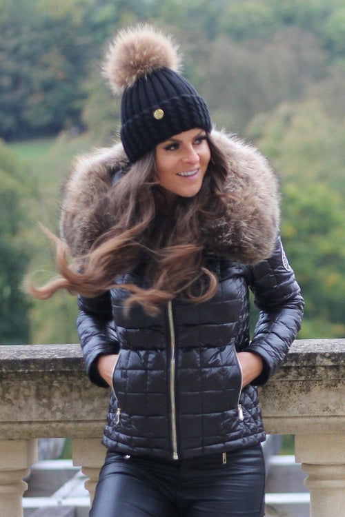 The Meribel Padded Coat (Black)