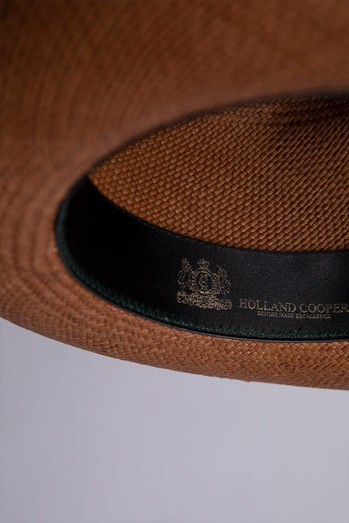 Panama Hat (Tan with Orange/Green)