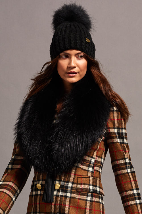 Fox Fur Collar - 100% Fox (Black)