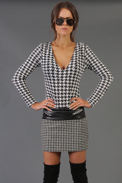 Tally Ho Skirt (Houndstooth)