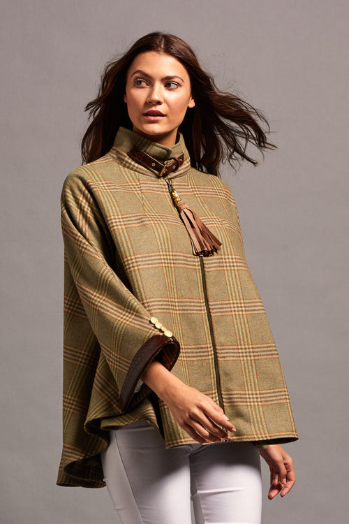 The Cooper Tweed Cape (Leveret/Brown Snake)