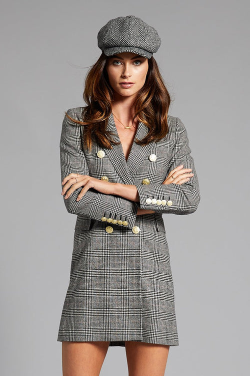 The Knightsbridge Coat Dress (Prince of Wales Check)