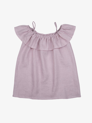 Brigitte Dusty Pink Linen Dress - Barbapapi