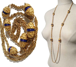 Crown Trifari Etruscan Style Necklace