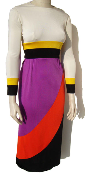 70s Color Block Dress