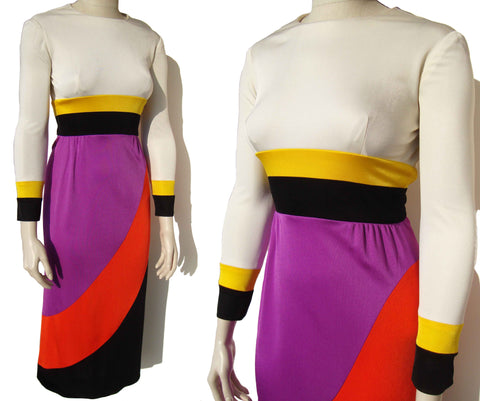 Vintage Color Block Dress