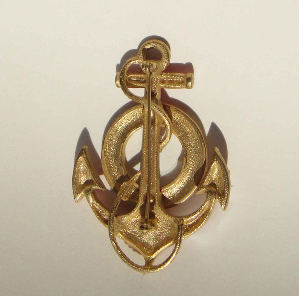 Vintage Anchor and Lifebuoy Mariner's Brooch