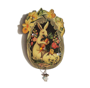 Victorian Easter Rabbit Brooch - Designs from the Deep DftD
