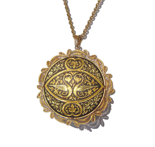 Vintage Spanish Damascene Necklace