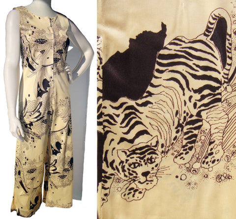 VIntage 60s Catsuit Animal Print