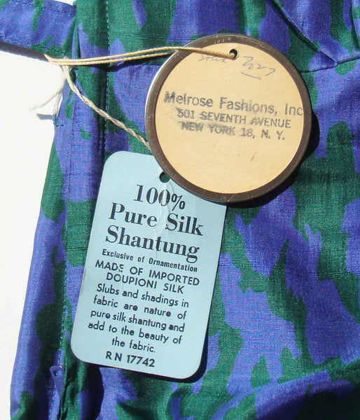Vintage Silk Dress Hang Tags